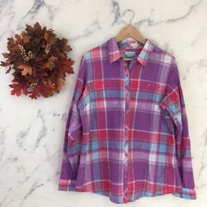 Columbia Plaid Button Down Shirt.